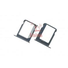 Bandeja Suporte / Gaveta Micro Sim Card Apple Iphone 4 / 4S (Prata)