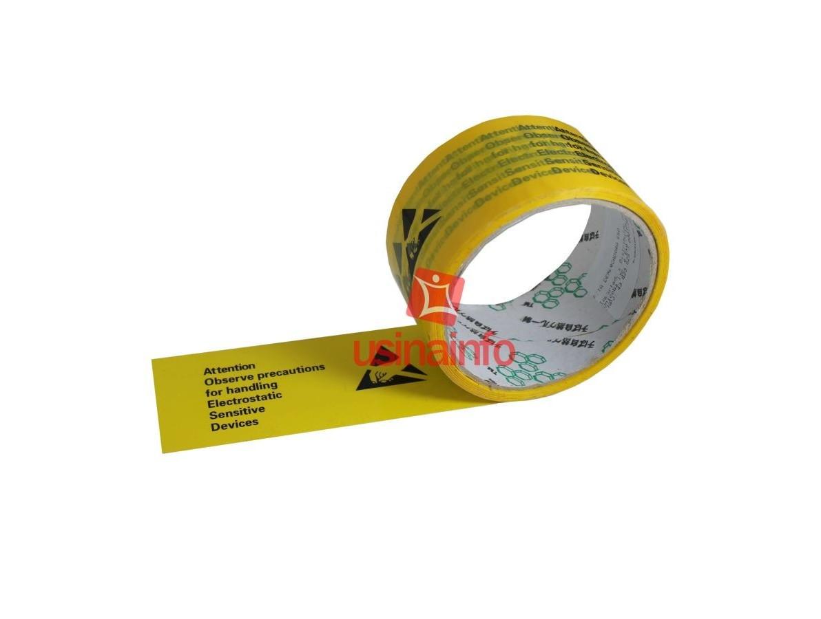 Fita Adesiva Demarcadora de áreas e objetos sensíveis à estática ESD - Rolo com 32 metros
