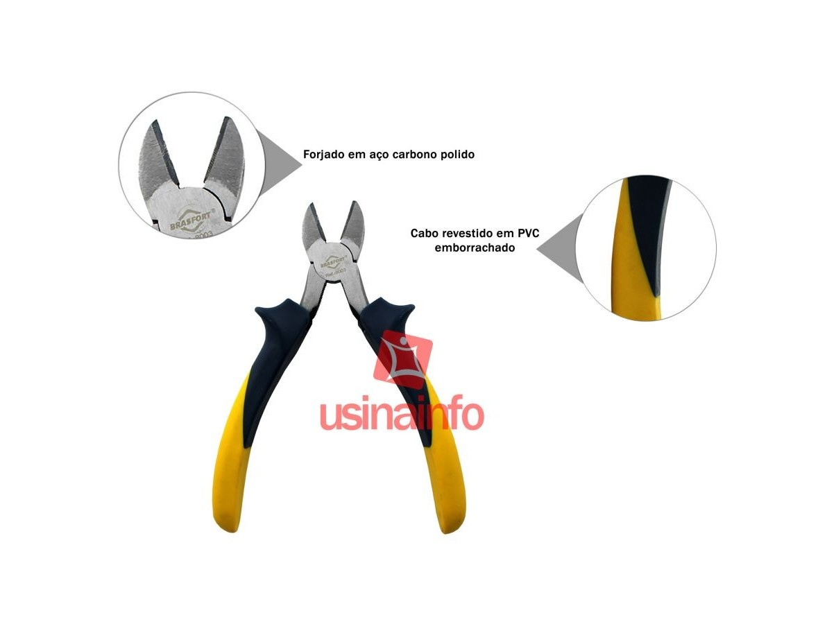 Alicate de Corte Diagonal 6'' (152mm) - Brasfort