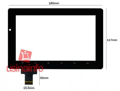 "Tela Touch Screen Tablet Genesis GT-7205 7"""