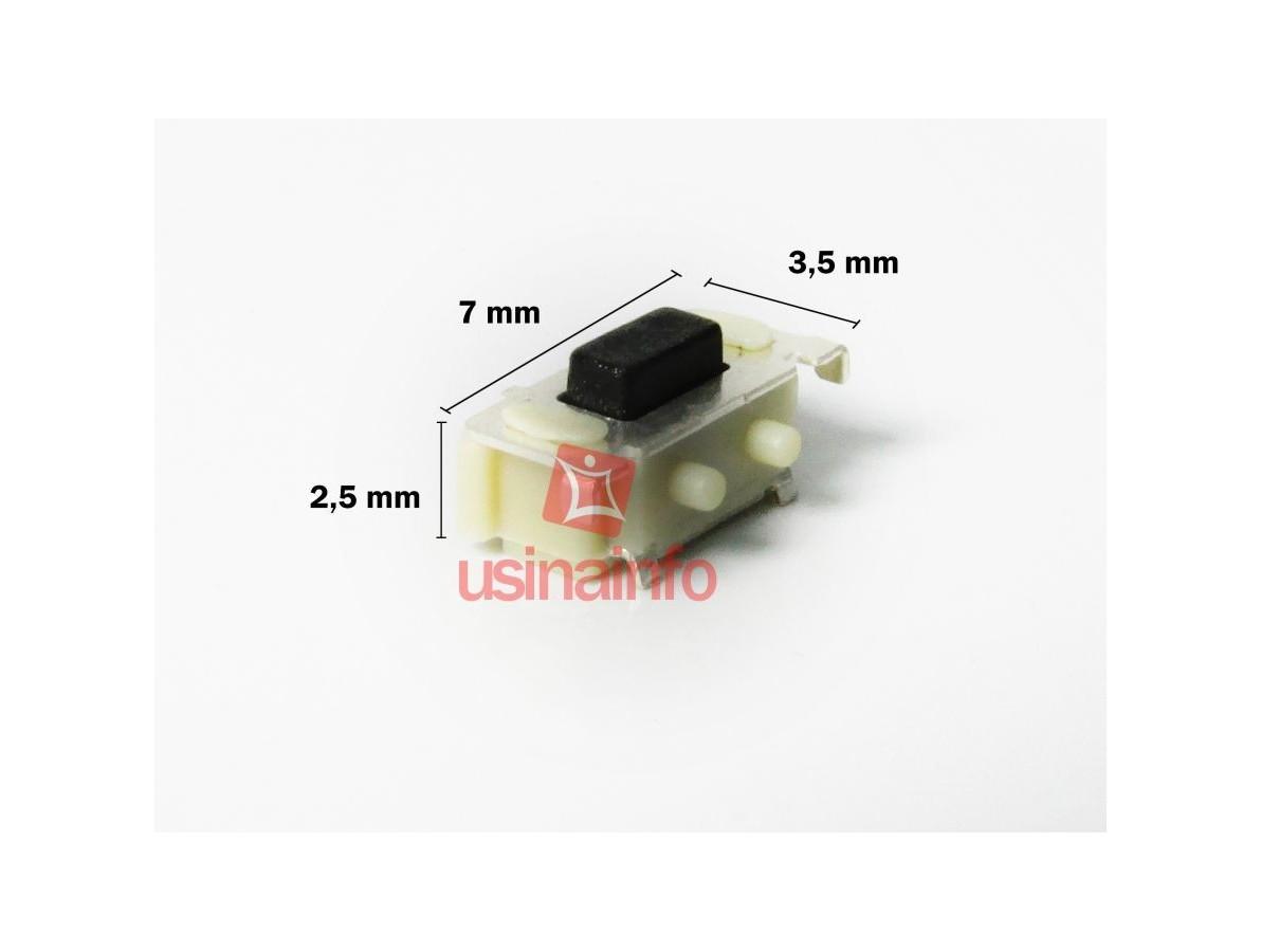Interruptor para Tablets, GPS, Celulares (7 x 3,5 x 2,5 mm)