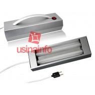 Lâmpada UV ( Ultravioleta ) Dupla + Suporte Portátil - Ideal para Secagem de Cola no Reparo de Telas