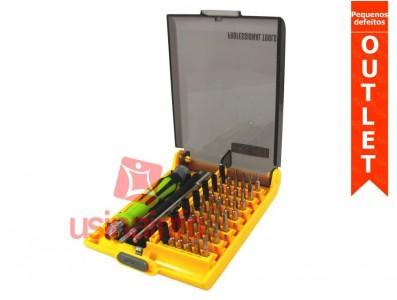 Kit de chaves com extensor flexível e 42 diferentes bit's - BT8913 (Pequenos defeitos)
