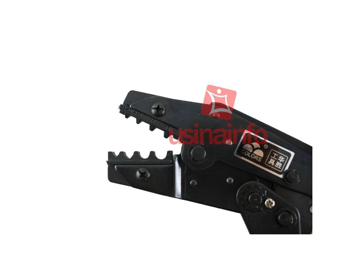 Alicate de Crimpar Terminal Tubular Ilhós 0,8 a 16mm² - HS1016