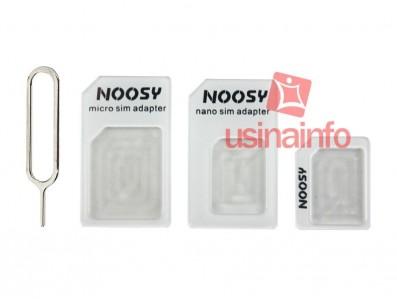 Adaptador de chip Micro SIM e Nano SIM + chave PIN - Noosy