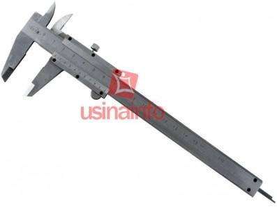 """Paquímetro Analógico 150mm / 6"""" em Aço Escovado + Estojo para Armazenamento - PA150"""