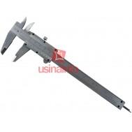 Paquímetro analógico 150mm (6'') em aço escovado com estojo de armazenamento - 8134