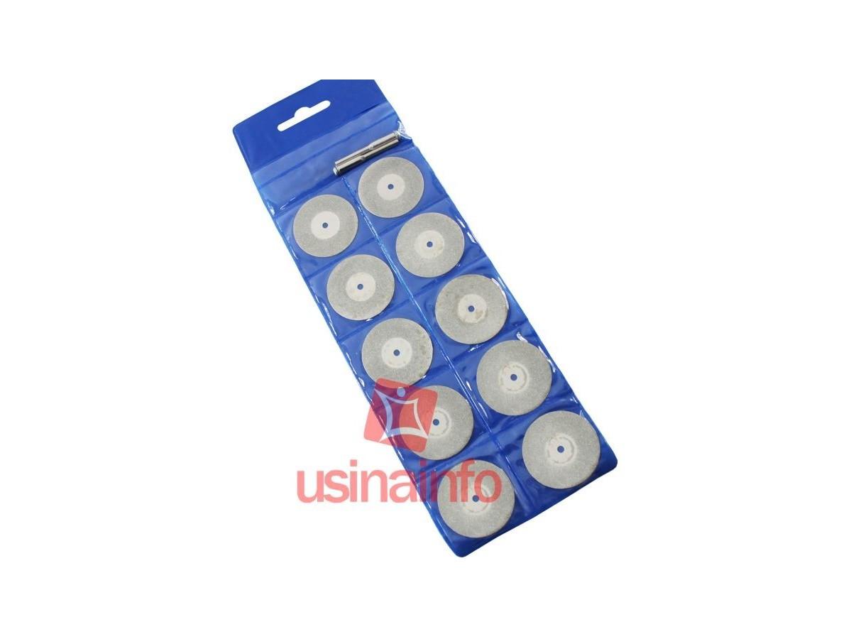 Discos de Lixa para Mini Furadeiras Elétricas - Kit com 10 unidades
