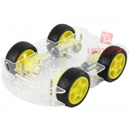 Carrinho Arduino / Carro Robô 4WD Acrílico 3mm - Kit Chassi