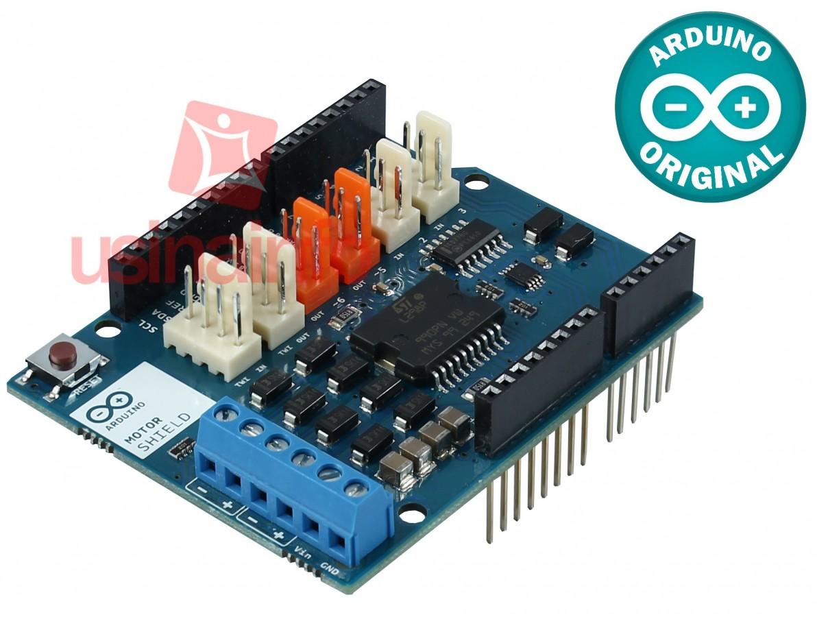 Motor Shield Arduino - Driver controlador de motores (DESCONTINUADO)