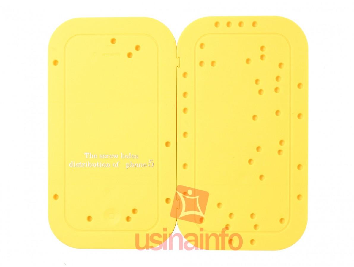Suporte para armazenamento dos parafusos do iPhone 5