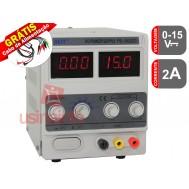 Fonte de alimentação digital regulável 15V 2A - PS 1502DD - BEST