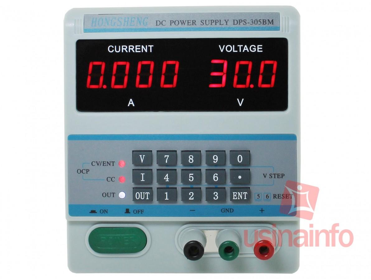 Fonte de Alimentação Digital Regulável 30V 5A - DPS 305BMBivolt 127V/220V
