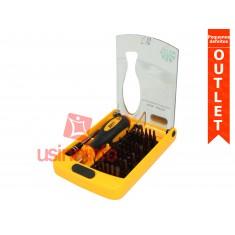 Jogo de chaves com 36 diferentes bit's, manopla e prolongador metálico - Best 888B (Pequenos defeitos)