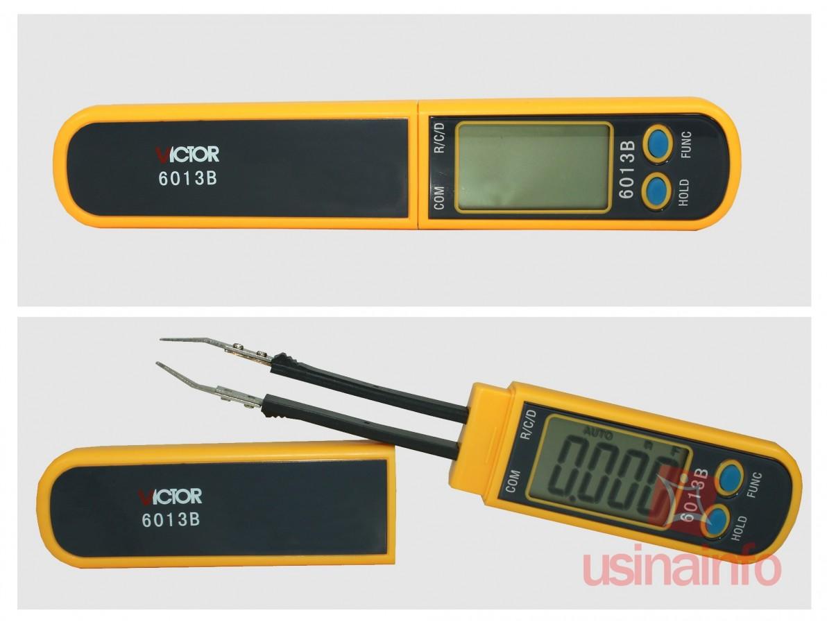 Multímetro / Capacimetro digital tipo pinça - Victor 6013B