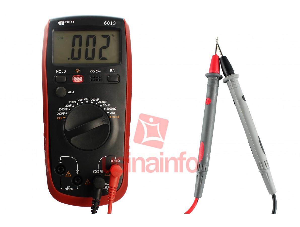 Multímetro com Capacímetro Digital - Best BT6013