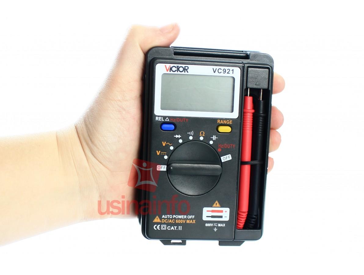 """Multímetro Digital de Bolso Automático """"Auto Range"""" com tampa de proteção - Victor VC921 (Descontinuado)"""