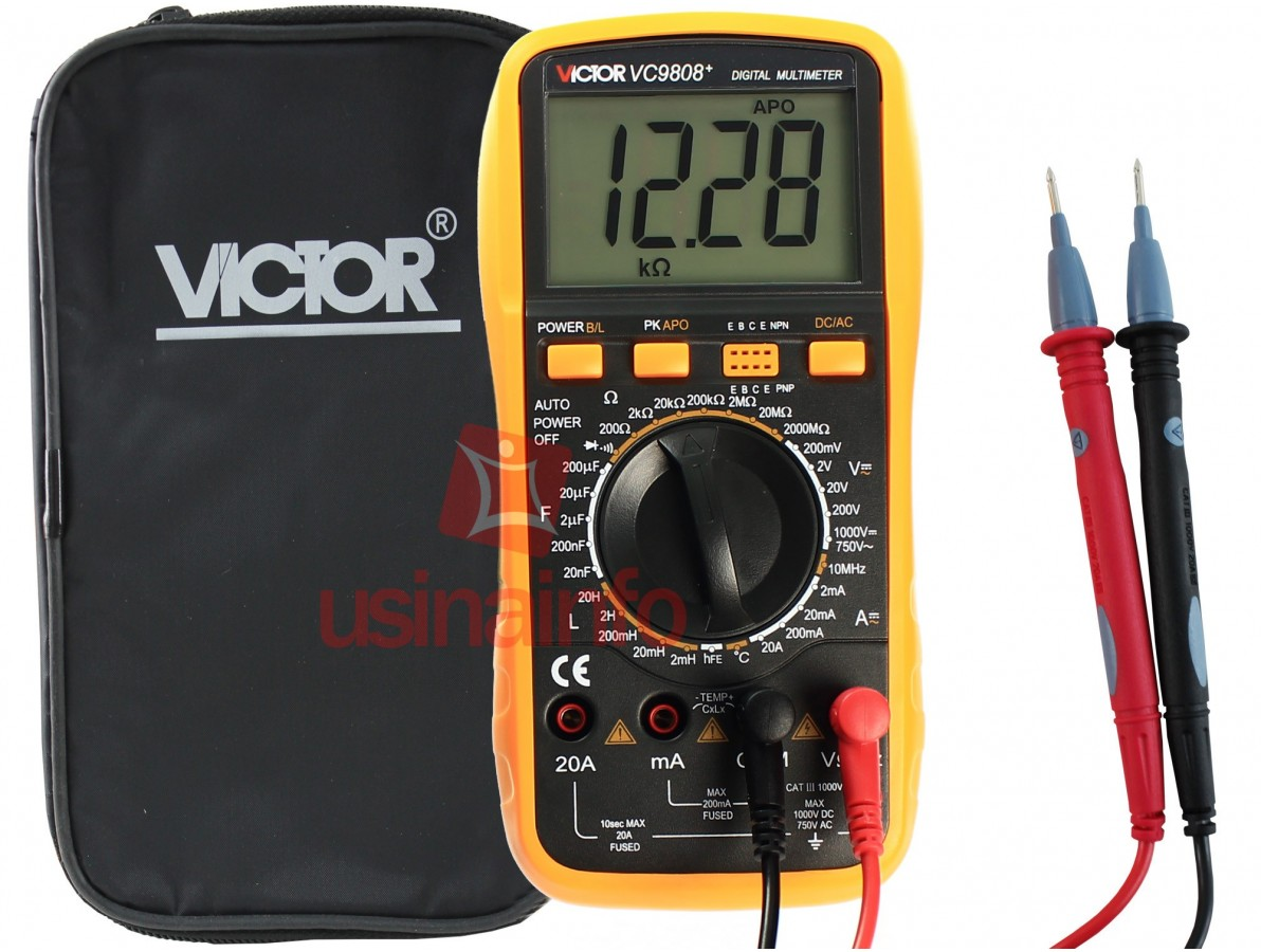 Multímetro Capacímetro Digital Profissional - Victor VC9808+