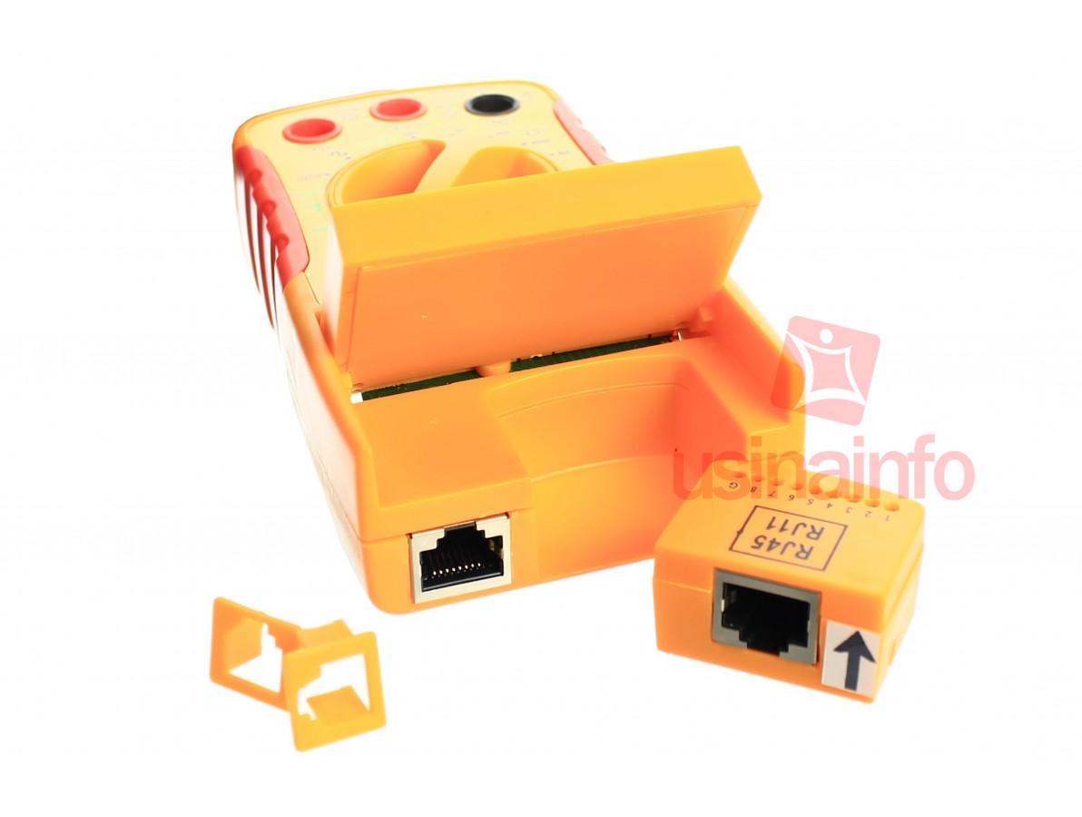 Multímetro Digital com Testador de Cabos RJ11 e RJ45 - ST68D