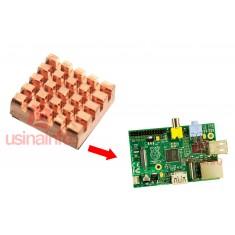 Dissipador de Calor Autoadesivo para Raspberry Pi 3, Pi 2, B e B+ em Cobre