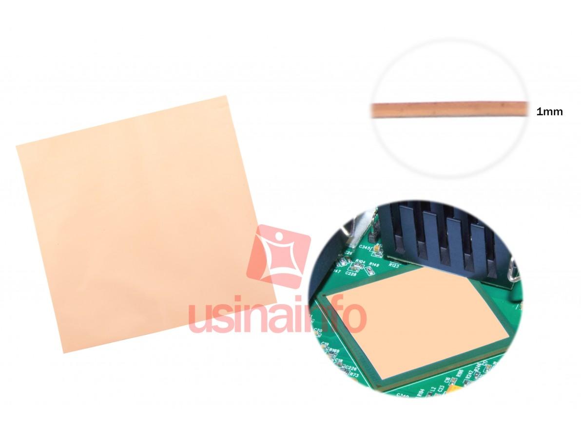 Adesivo Térmico de Silicone de Alta Condutividade 1mm - 10x10cm