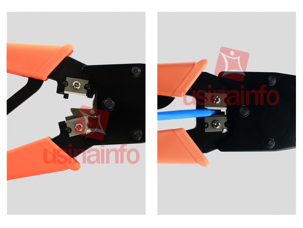 Alicate de Crimpar Rede RJ11 / RJ12 / RJ45 - ATC01 HYX