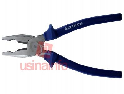 Alicate universal 8 pol de aço carbono polido - Eccofer AUE 8200