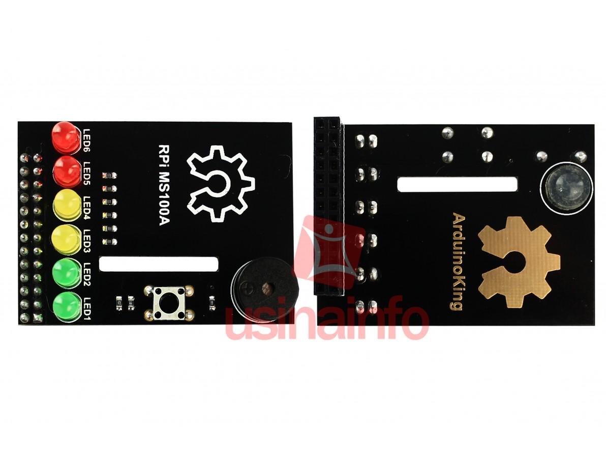 BerryClip - shield com 6 leds e buzzer para Raspberry Pi