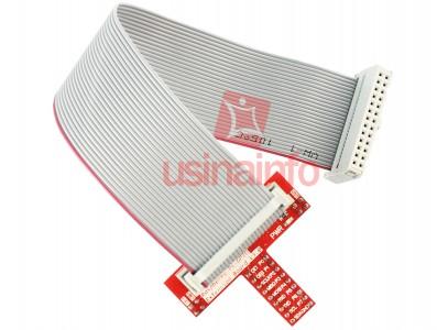 Cabo Flat para pinos GPIO + Adaptador de Protoboard para Raspberry Pi B