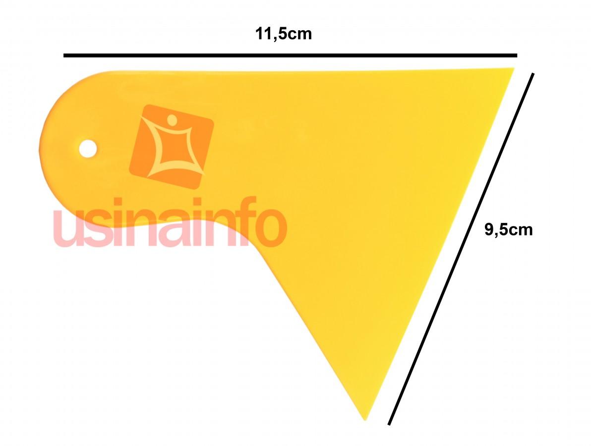 Espátula Batedor para aplicação de películas - Amarela
