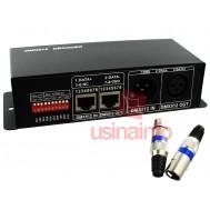 Controlador DMX512 Decoder RGB / Controlador de iluminação 4 canais