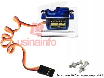 Suporte Acrílico para Micro Servo Motor - Compatível com SG90