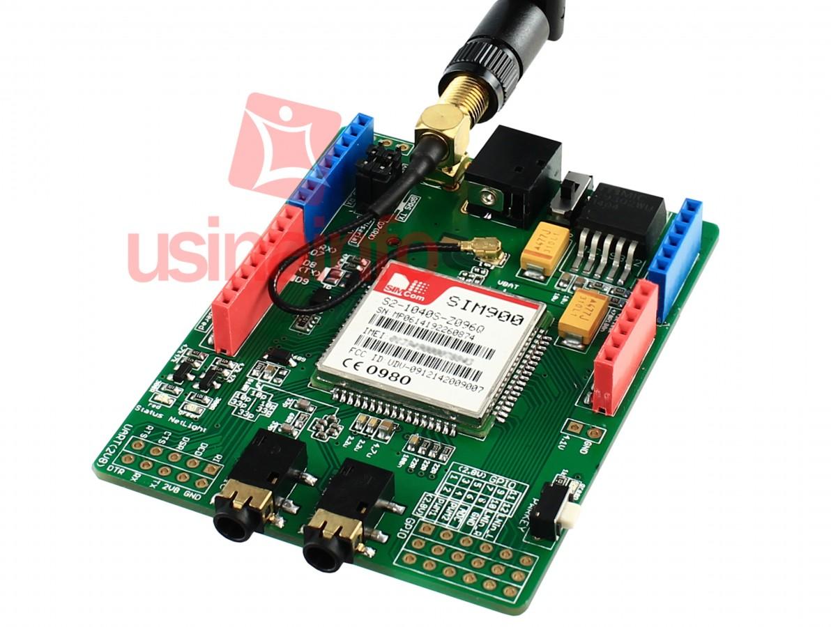 Shield GSM / GPRS / SMS + Antena para Arduino  - SIM900