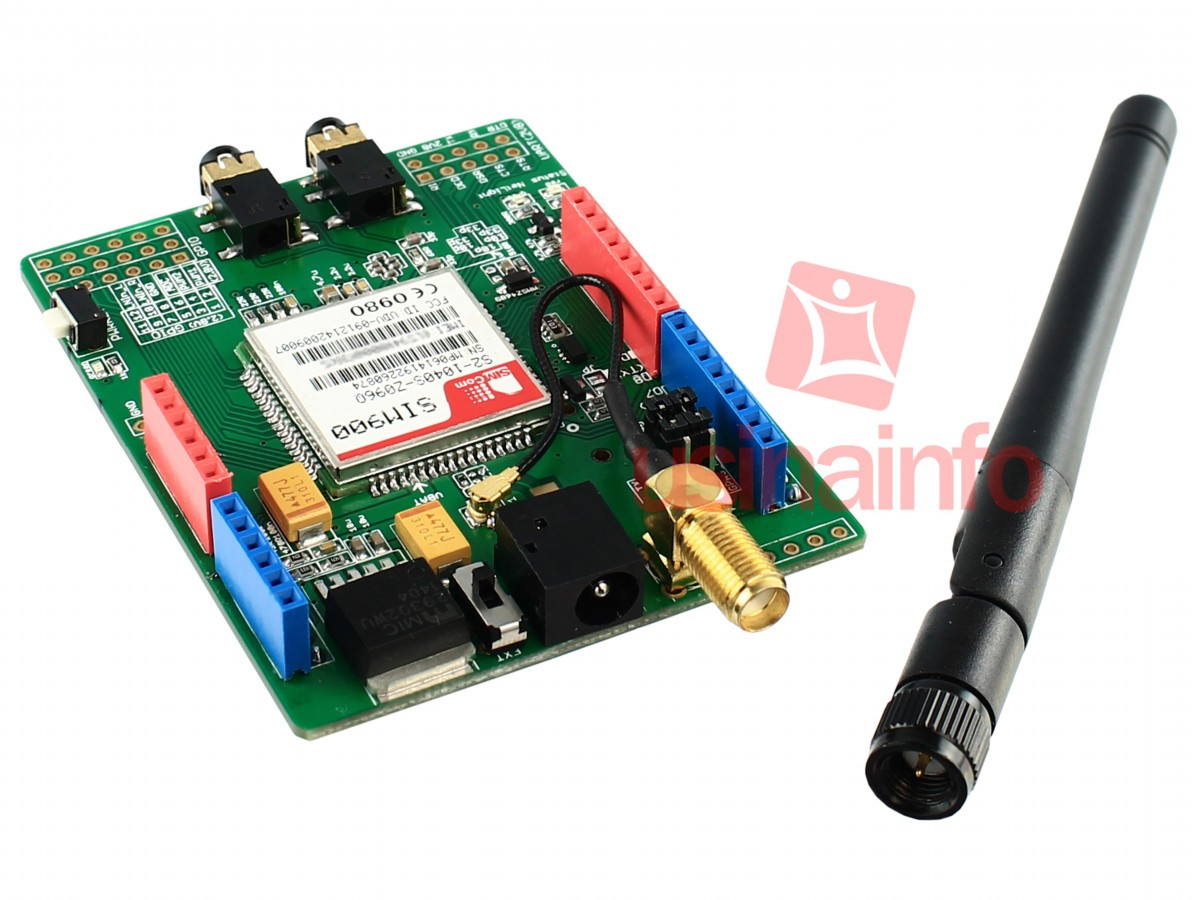 Shield GSM / GPRS / SMS Quad-Band + Antena para Arduino  - SIM900
