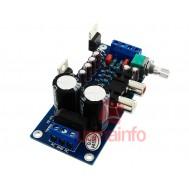 Placa Amplificador de Som Estéreo 2 canais 18W + 18W para conector RCA - TDA2030A