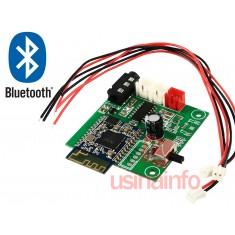 Placa Amplificador de Som Estéreo 2 canais 3W + 3W com Recepção Bluetooth - (DESCONTINUADO)
