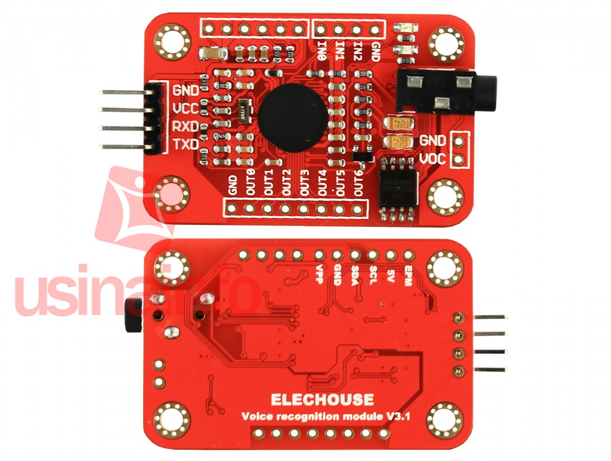 Módulo de Reconhecimento de Voz para Arduino + Microfone - FZ0475 - Comande Seu Projeto por Voz
