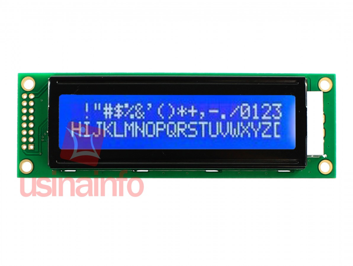 Display LCD 20x2 com fundo azul