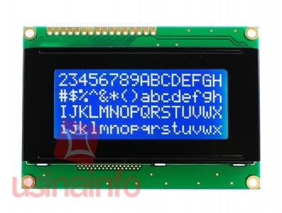 Display LCD 16x4 com fundo azul