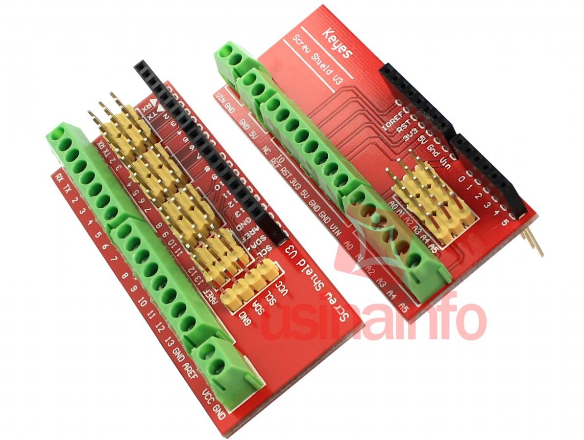 Screw Shield V3 - Placa de Expansão para Arduino