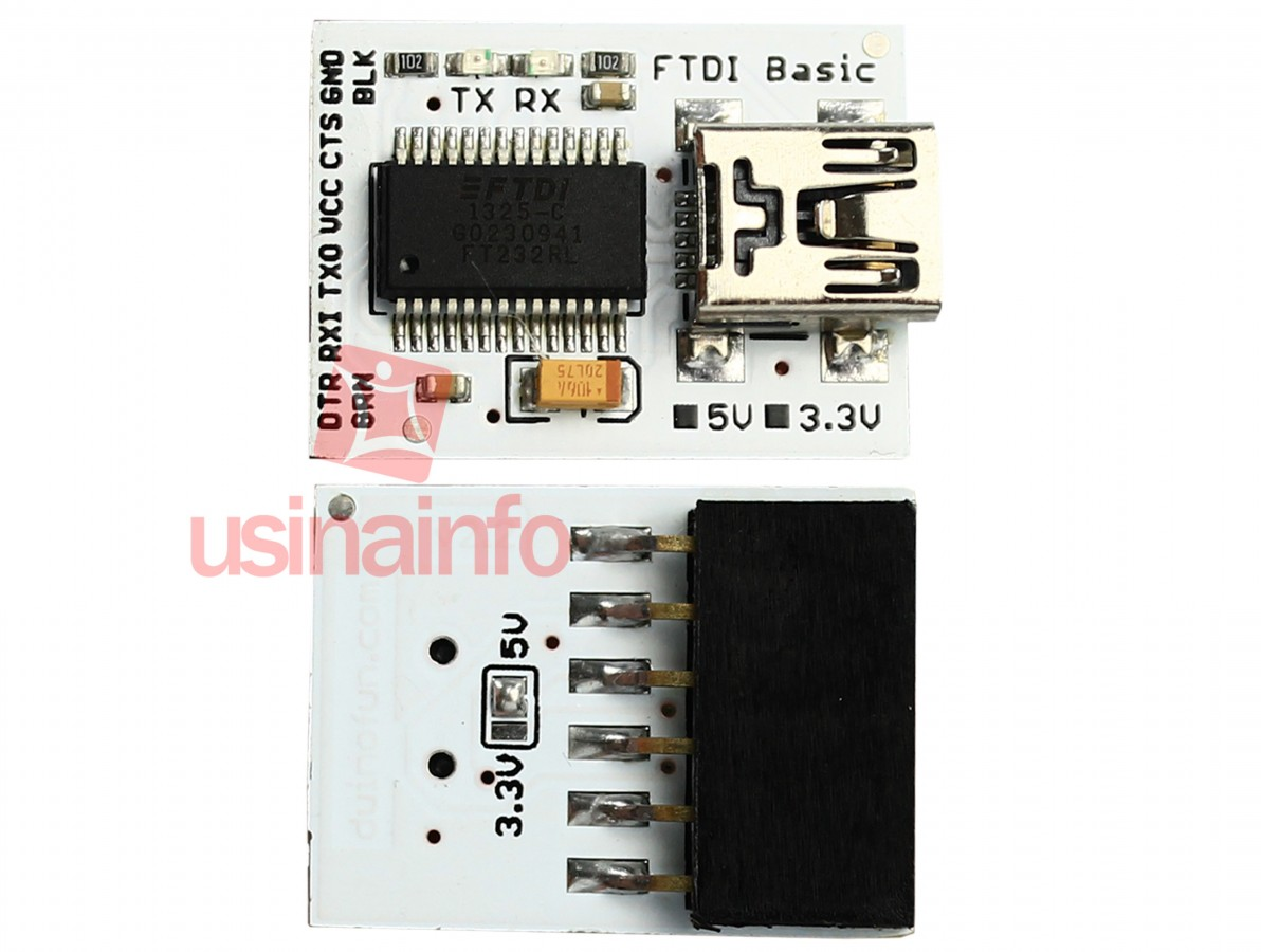 Módulo FTDI Conversor USB para TTL e RS232 Serial - Ideal para Lilypad