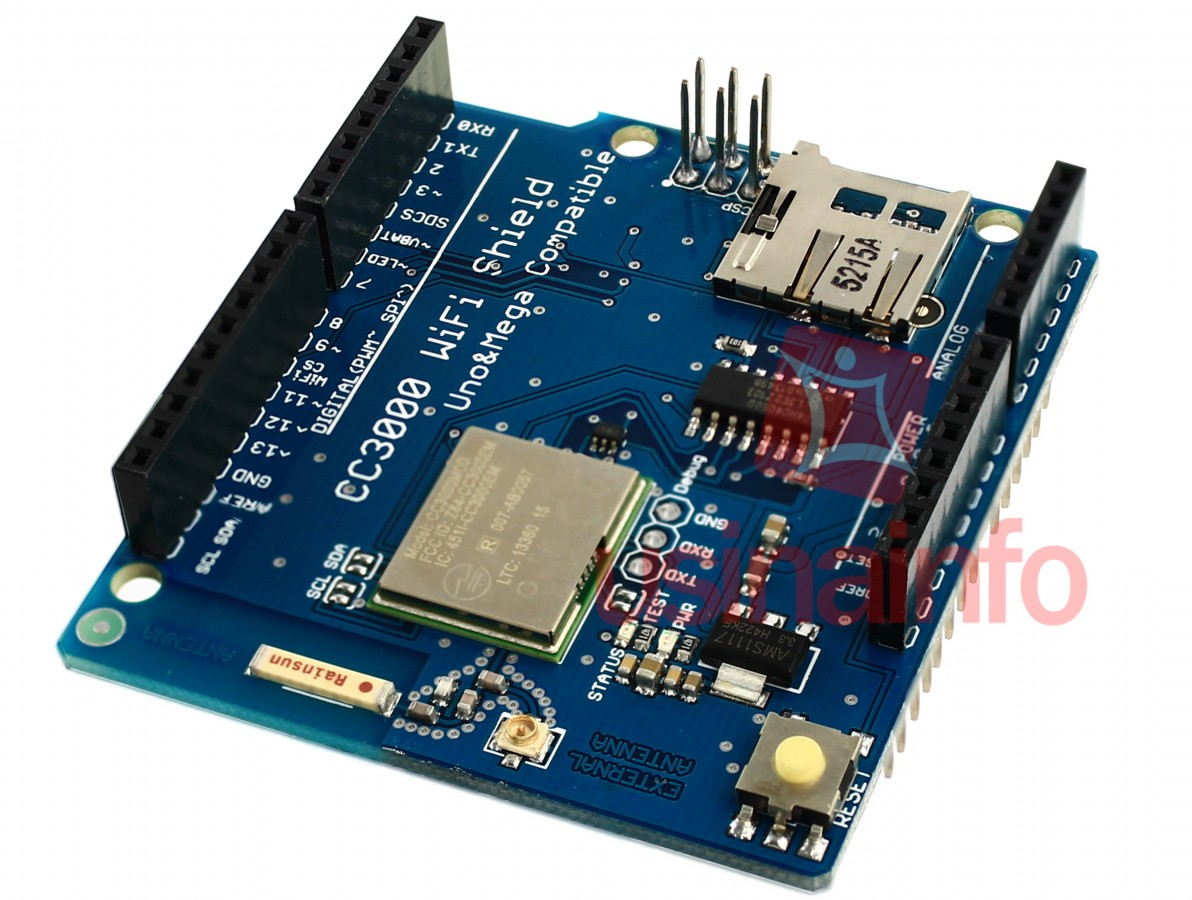 Shield Wifi CC3000 ( Wireless ) para Arduino