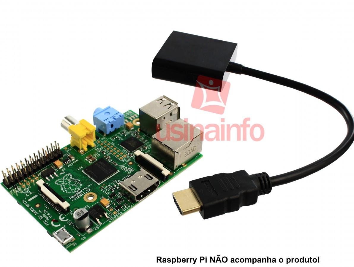 Adaptador HDMI para VGA com Chip Conversor Integrado - Preto