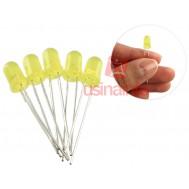 LED Amarelo 5mm - Kit com 5 unidades