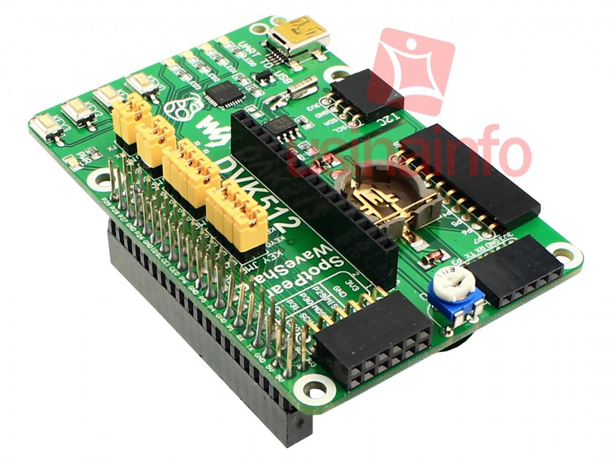 Shield para Raspberry Pi 3, Pi 2, B+, A+  / Placa de expansão DVK512