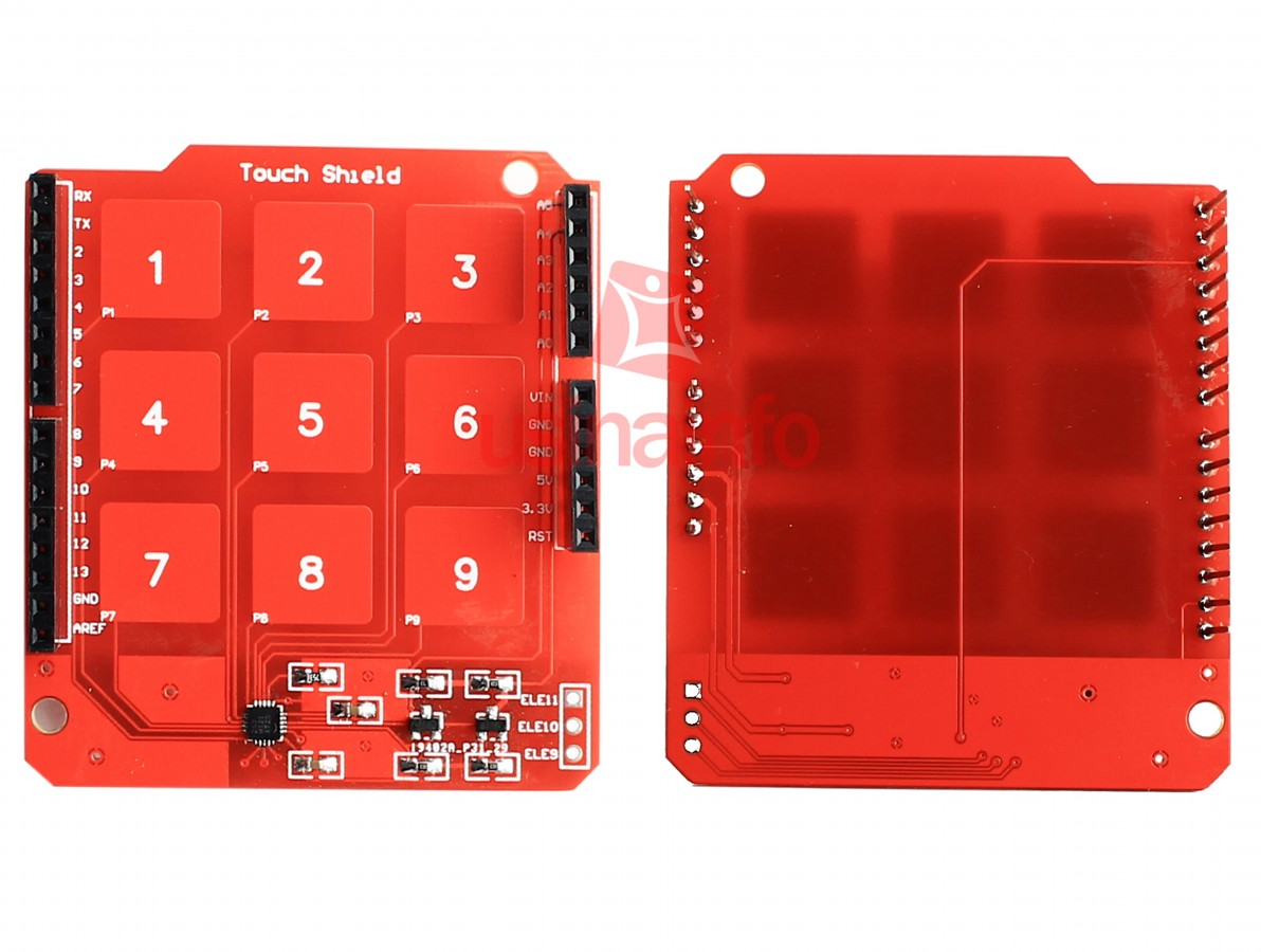 Shield Touch Pad / Sensor de Toque Capacitivo para Arduino