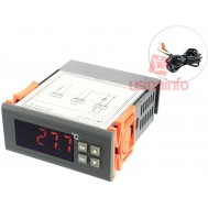 Controlador de Temperatura Digital / Termostato 10A 250V + Sensor de Temperatura NTC - RC110M