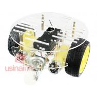 Carrinho Arduino Redondo / Carro Robô 2WD Acrílico 2mm - Kit Chassi
