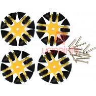 Roda OMNI Direcional com Segmentos Emborrachados - Kit com 4 unidades