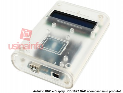 Case para Arduino Mega ou UNO / Display 16x2 - ABS